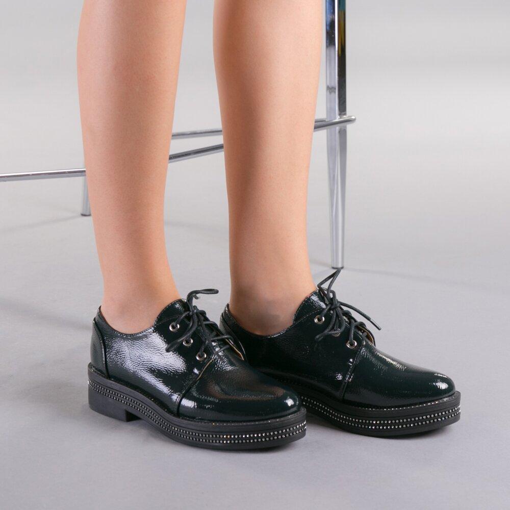 Pantofi casual dama Ivana verzi