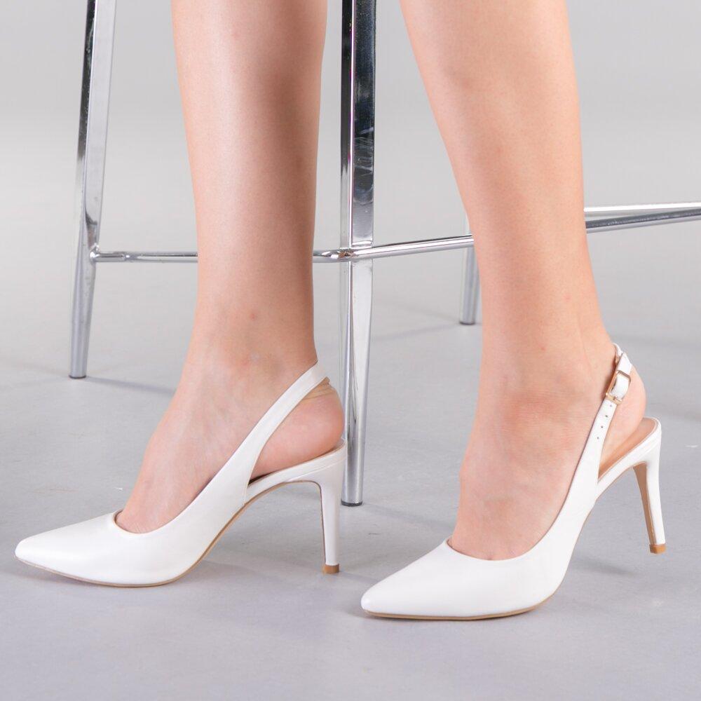 Pantofi dama Bella albi