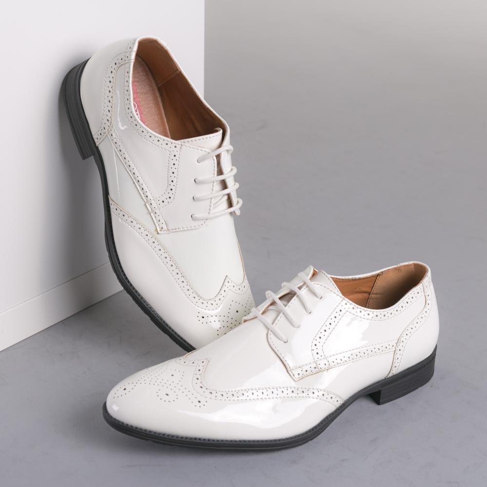 Pantofi barbati Conor albi