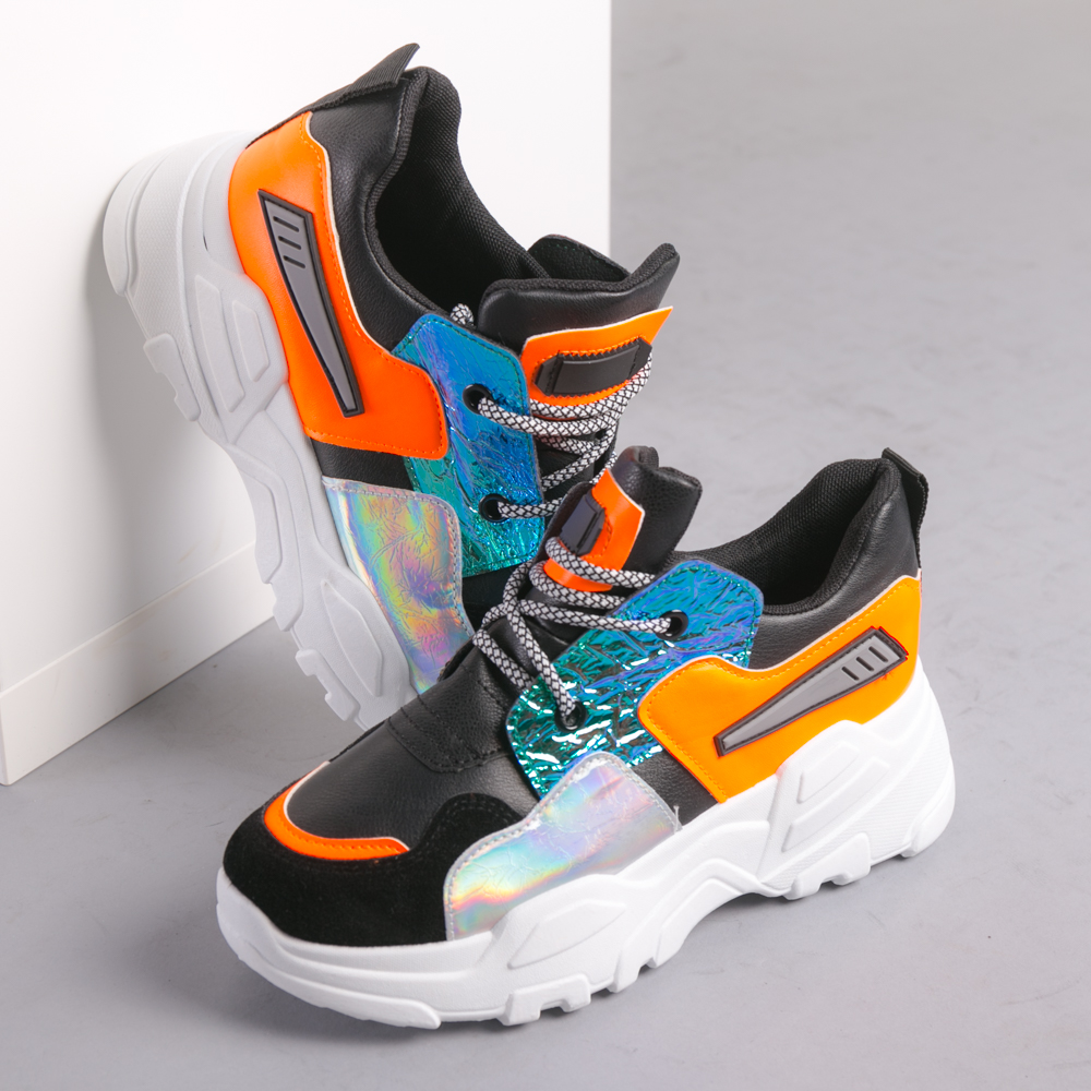 Pantofi sport dama Fame negri