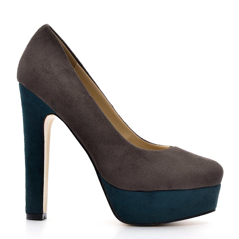 Pantofi dama Leonie gri