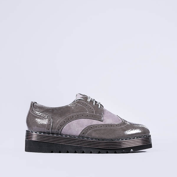 Pantofi casual dama Allyson gri