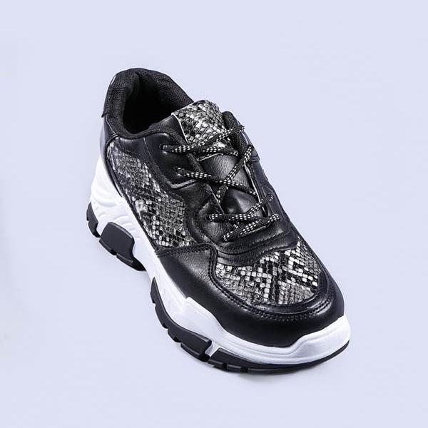 Pantofi sport dama Ami negri snake