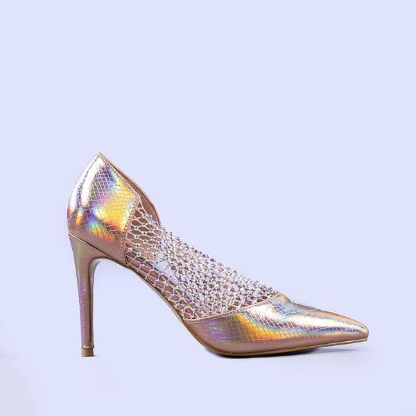 Pantofi dama Meda champanie