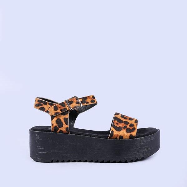 Sandale dama Scarlett leopard