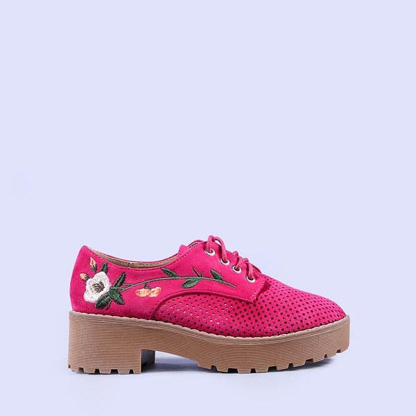 Pantofi dama Sandra fuchsia