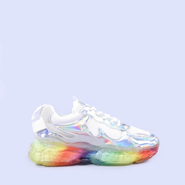 Pantofi sport dama Aissa argintii