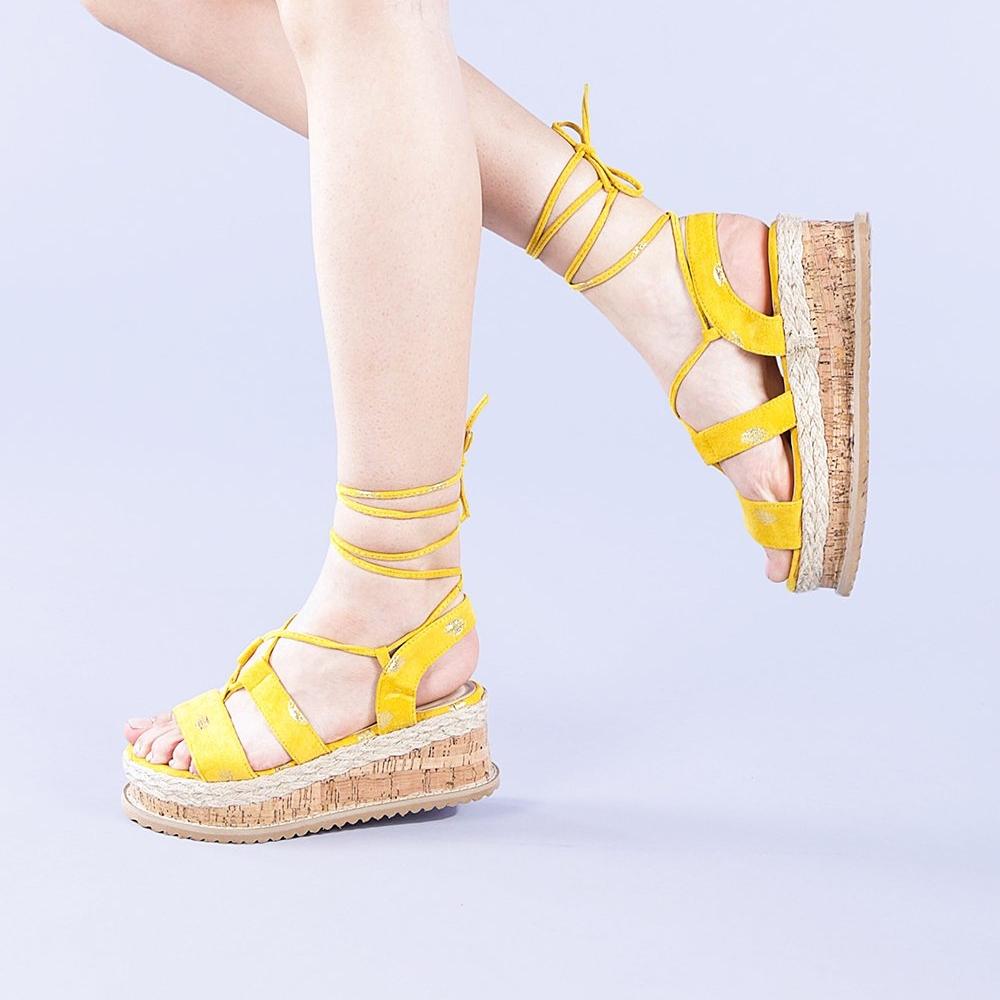 Sandale dama Sabina galbene