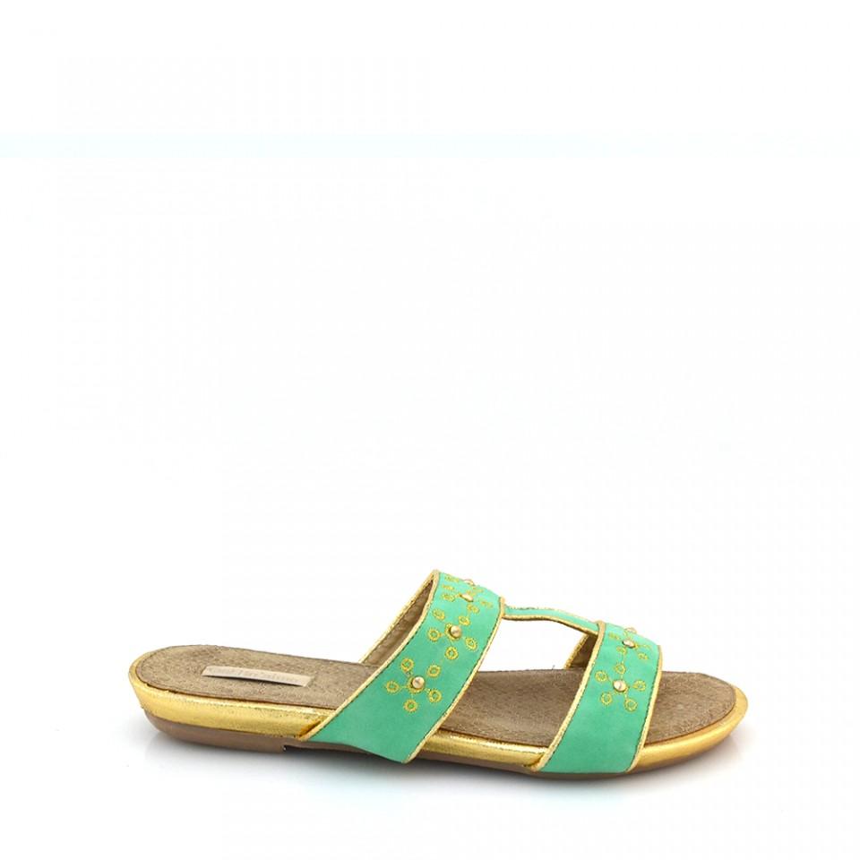 Papuci dama Karina verzi