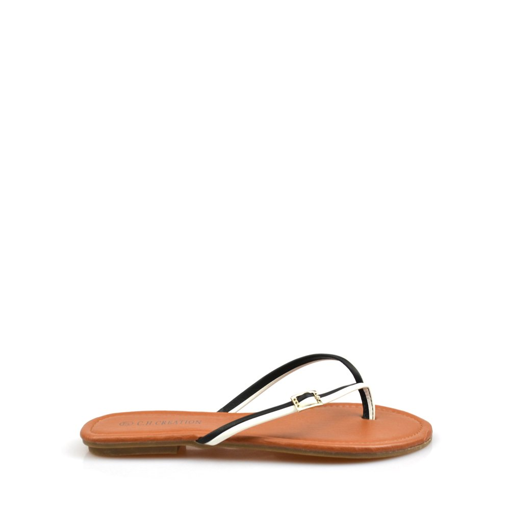 Papuci Dama Negru Cu Alb Ortiz