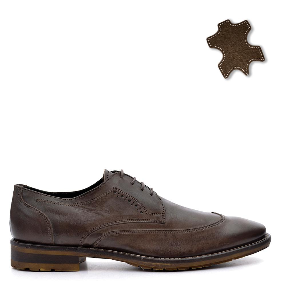 Pantofi barbati piele Manfield maro