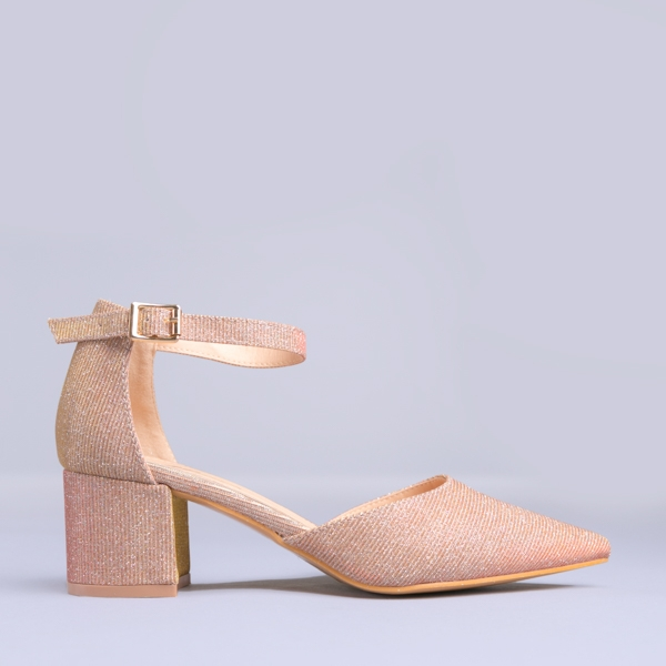 Pantofi dama Marilena roz-aurii