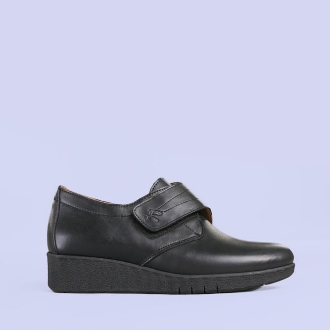 Pantofi casual piele Latina negri