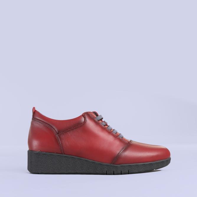 Pantofi casual piele Zenda grena