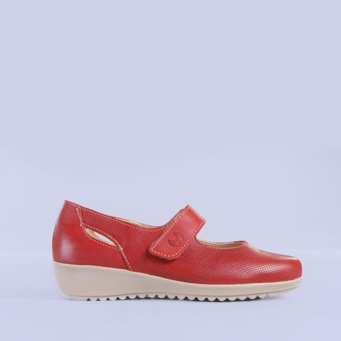 Pantofi casual piele Lavia rosii