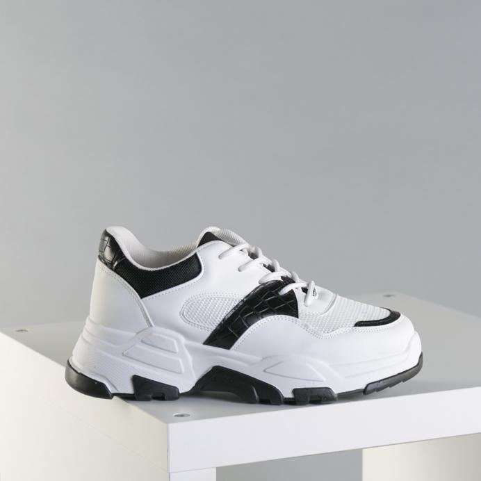 Pantofi sport dama Runy alb cu negru