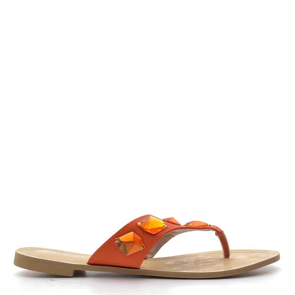 Papuci dama Liana 2 portocalii