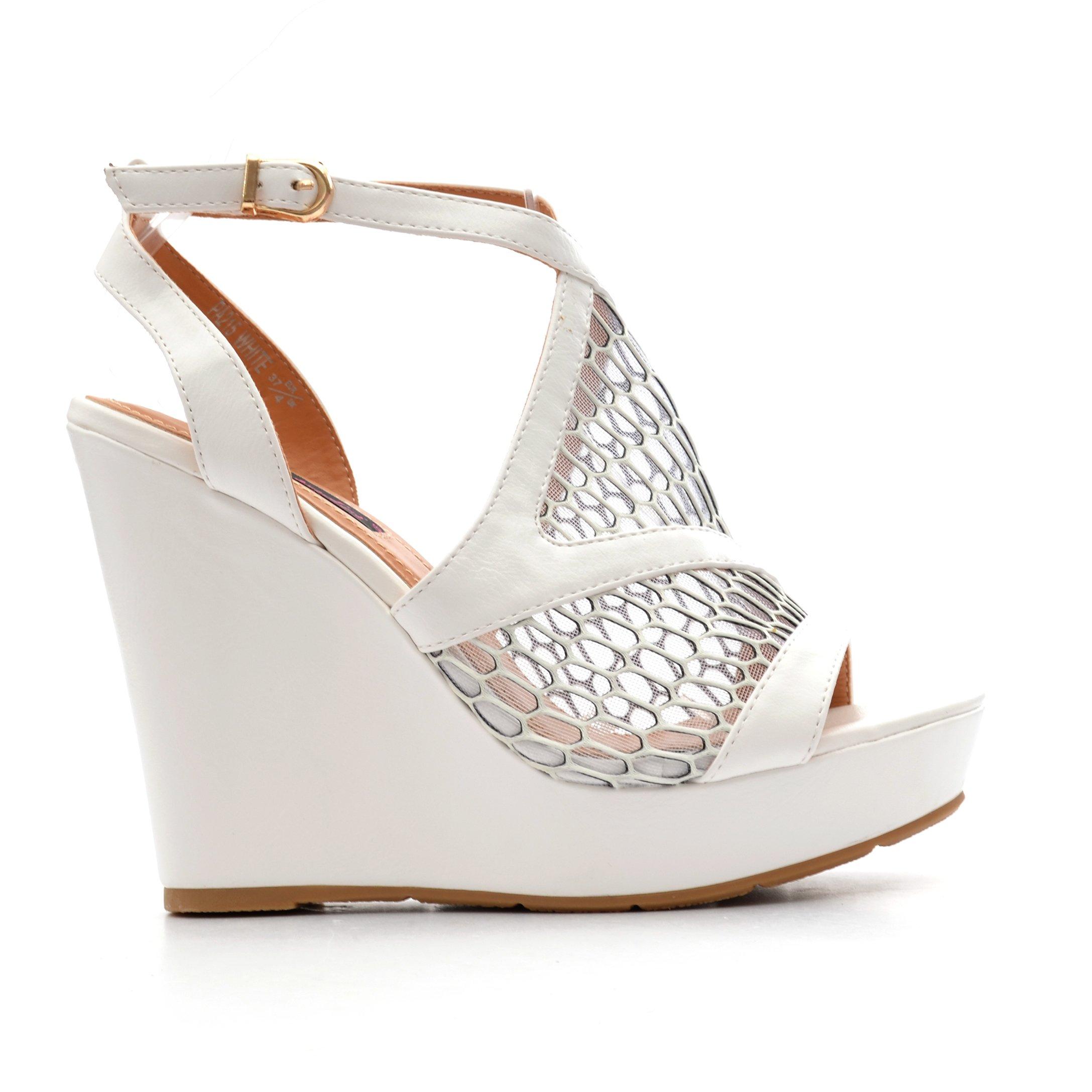 Sandale dama Hadley albe