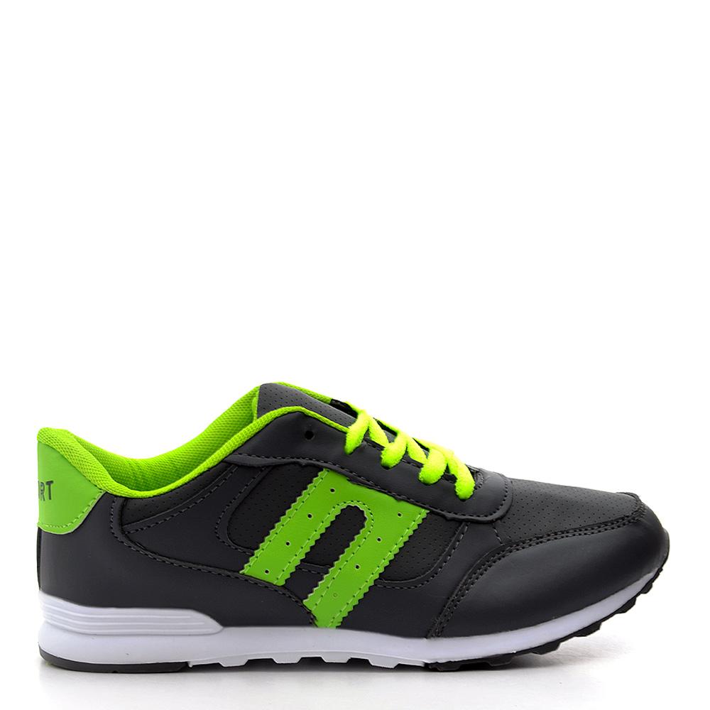 Pantofi sport dama Josh 3 gri cu verde