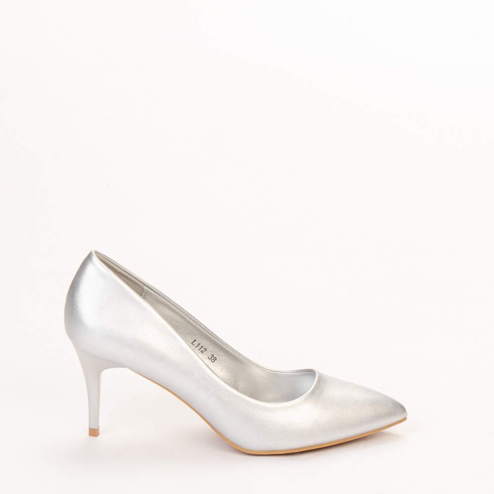 Pantofi dama Delora argintii