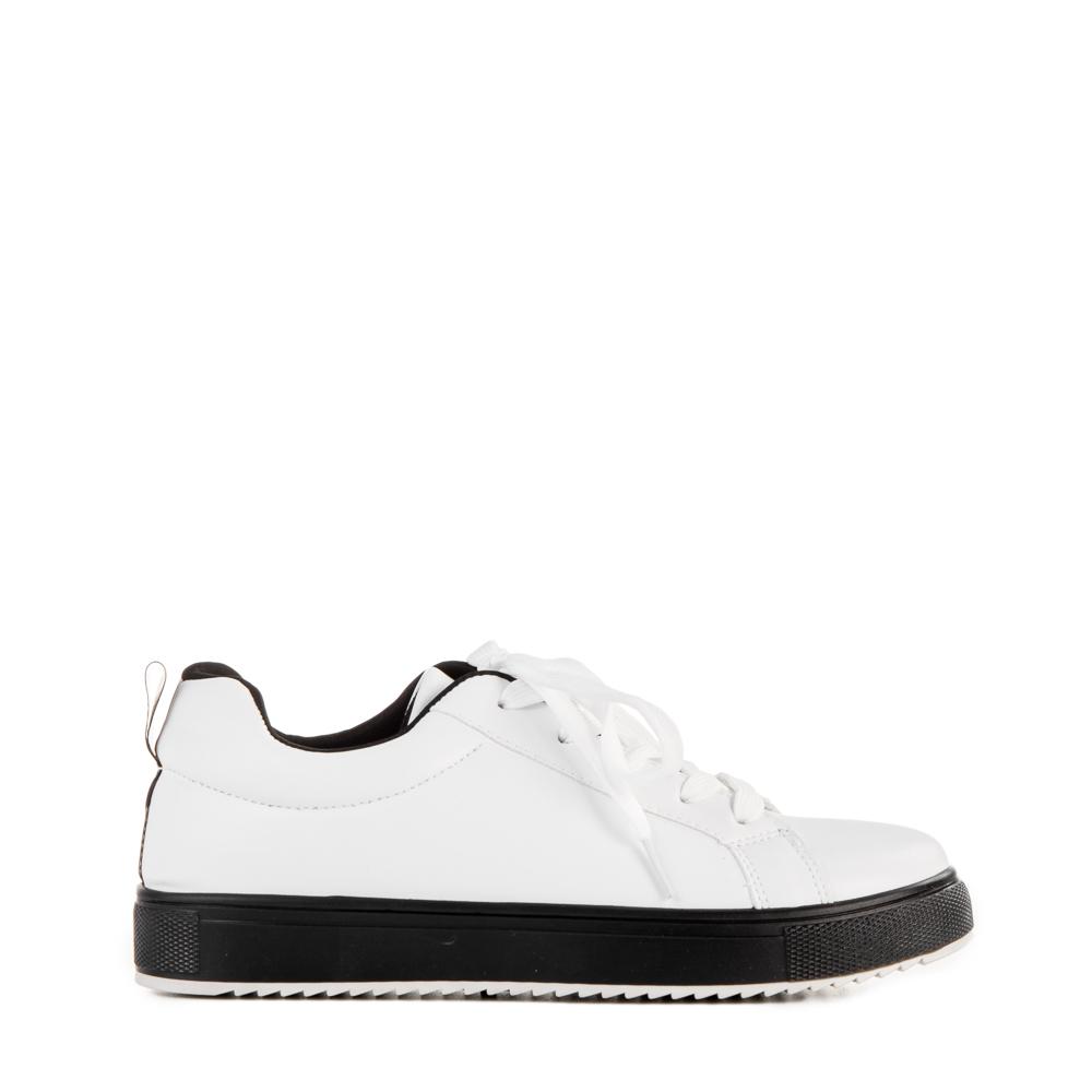 Pantofi sport dama Luela albi cu negru