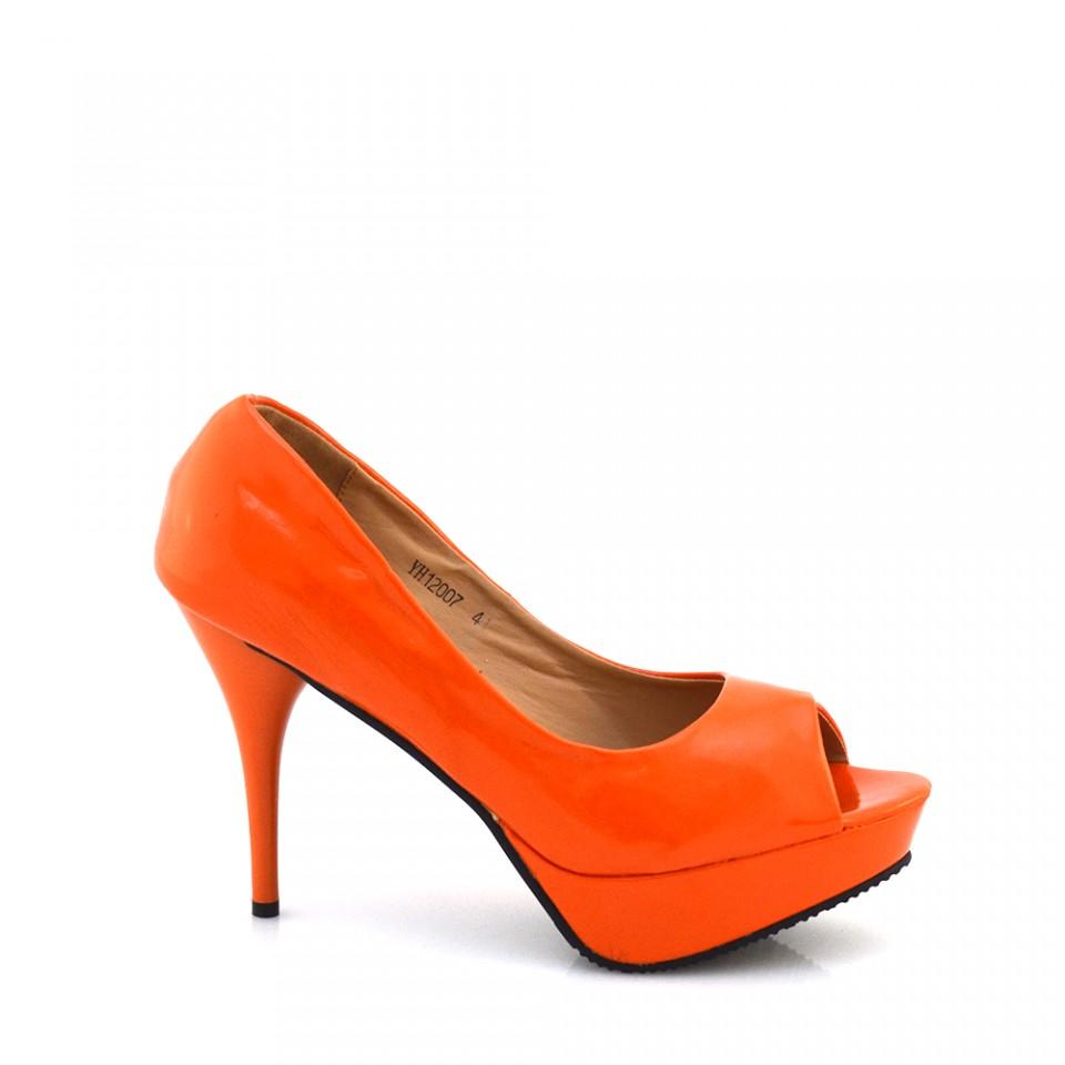 Pantofi dama Mimi portocalii