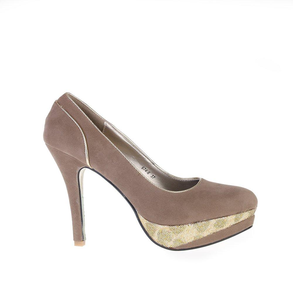 Pantofi Dama Marria Khaki
