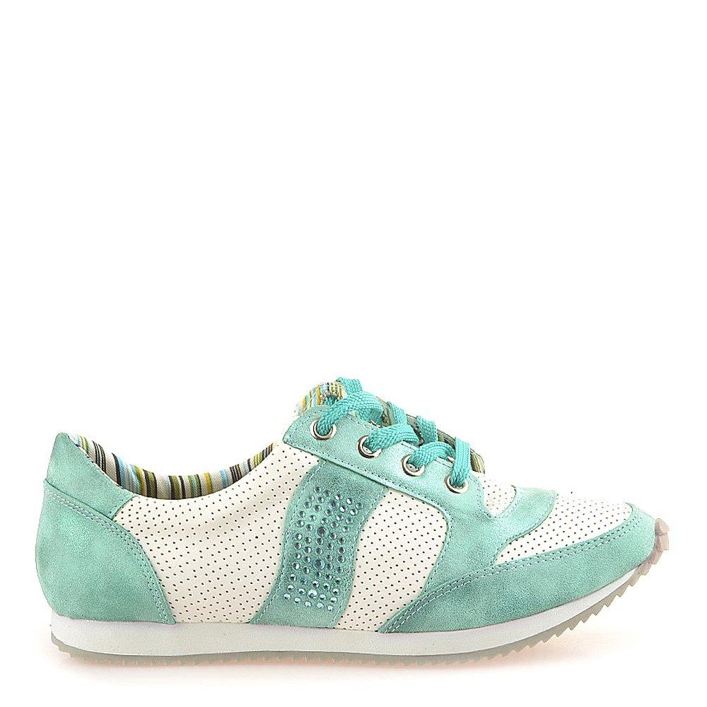 Pantofi sport dama Alicia albi cu verde