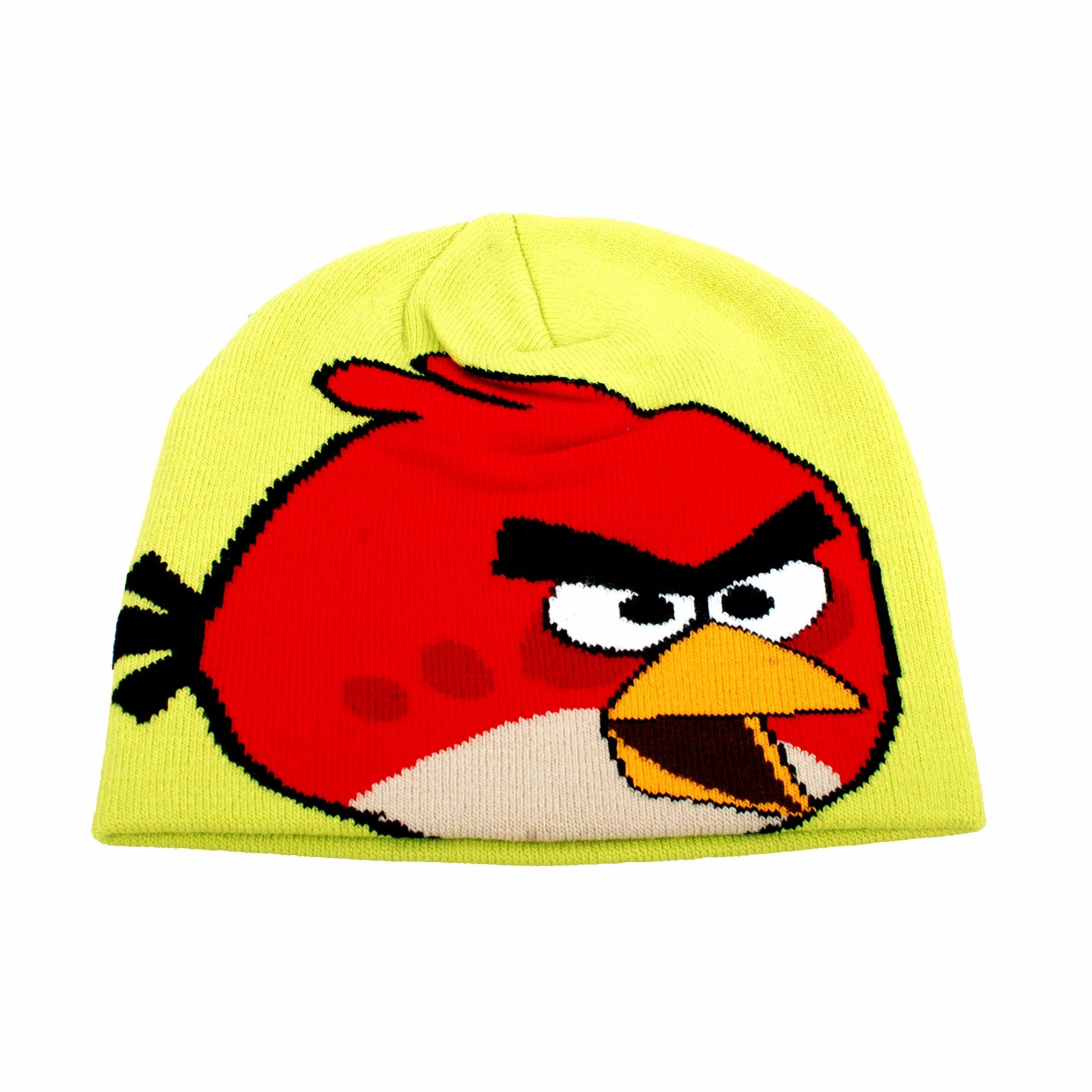 Caciula copii Angry birds verde