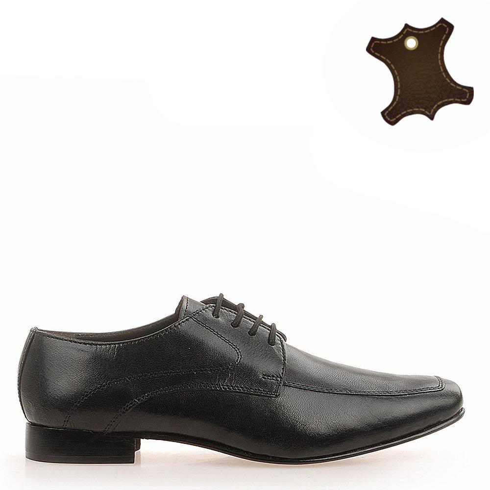 Pantofi Barbati Piele City Negri