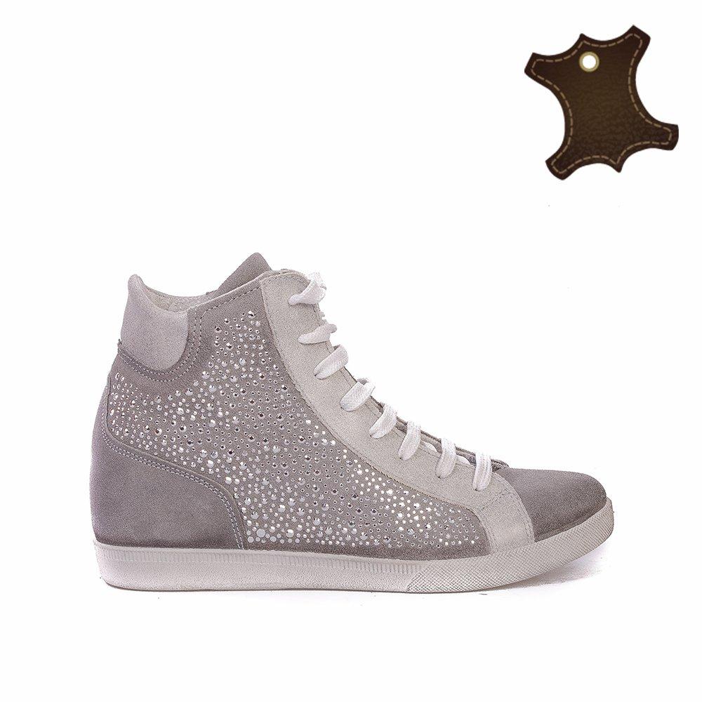Sneakers Dama Piele It-sk017 Gri