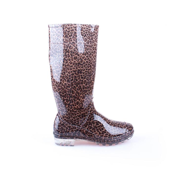 Cizme din cauciuc pentru femei Starshine leopard