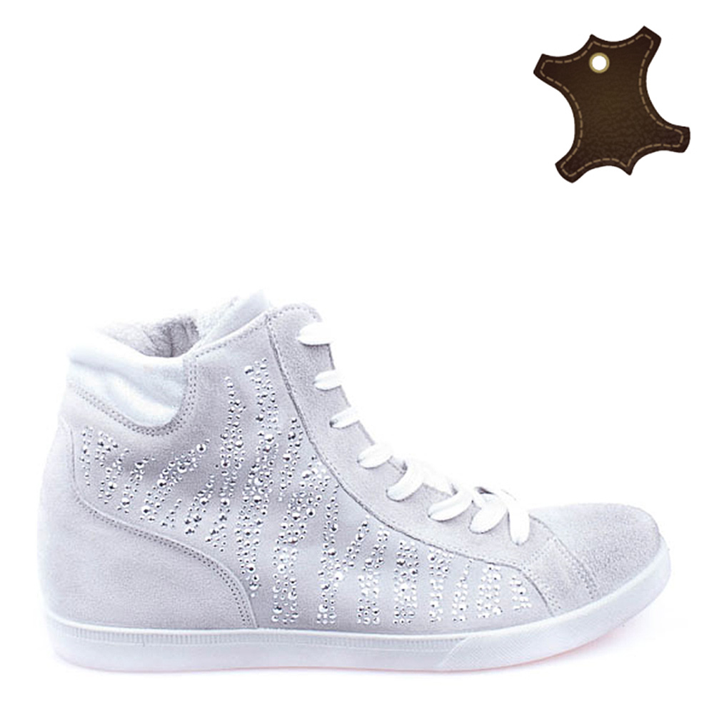 Pantofi Sport Dama Piele It-psd009 Gri Deschis