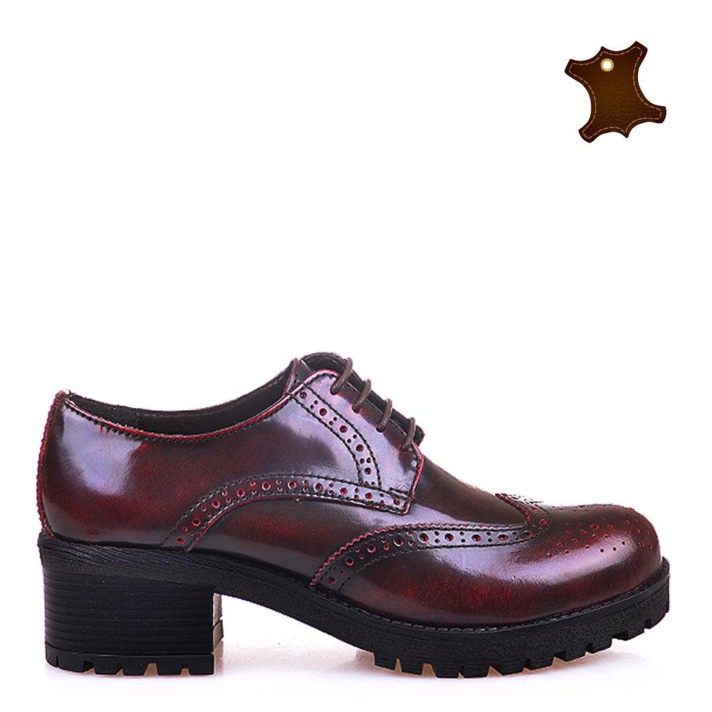 Pantofi Dama Piele Giulia Bordo
