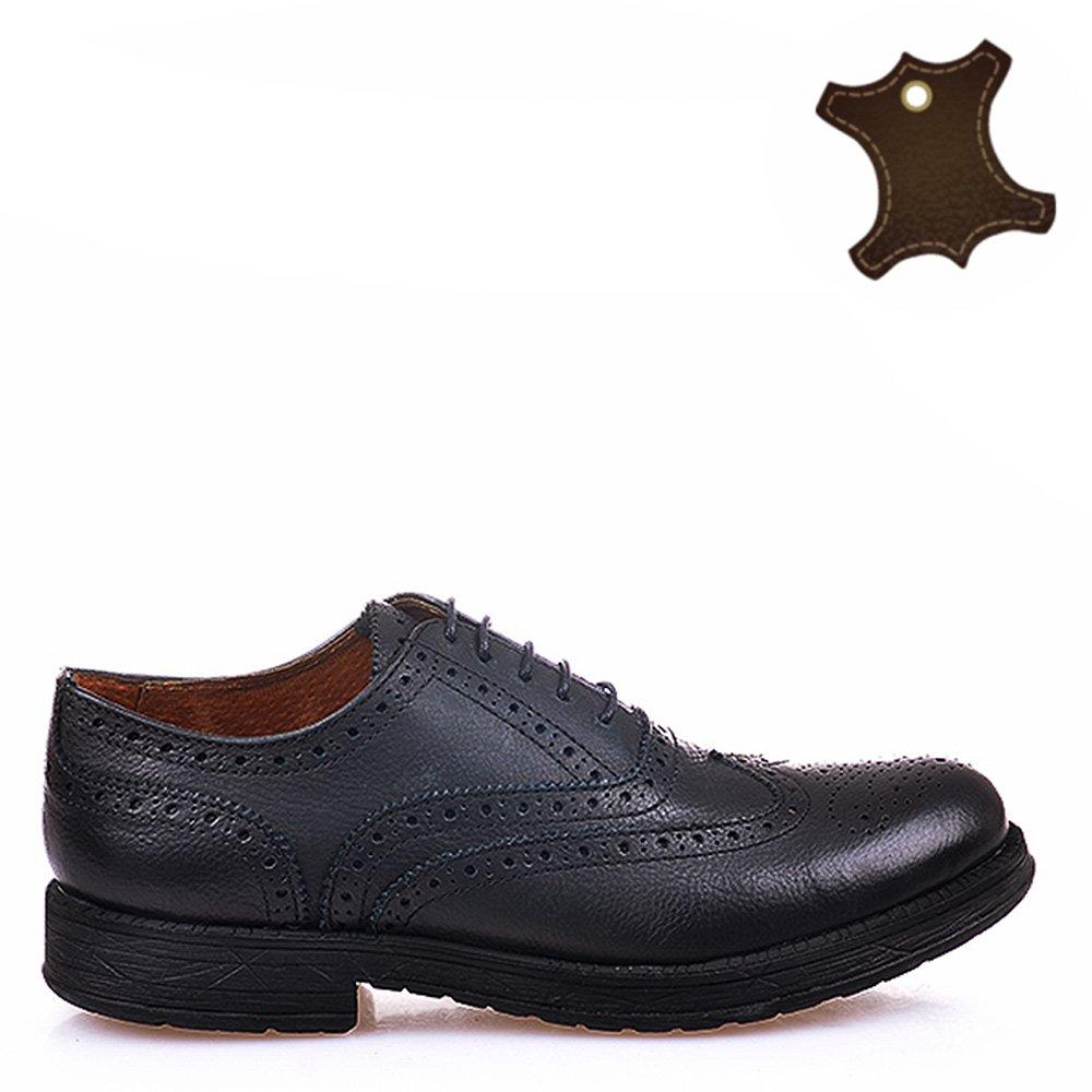 Pantofi barbati piele Vintage negri