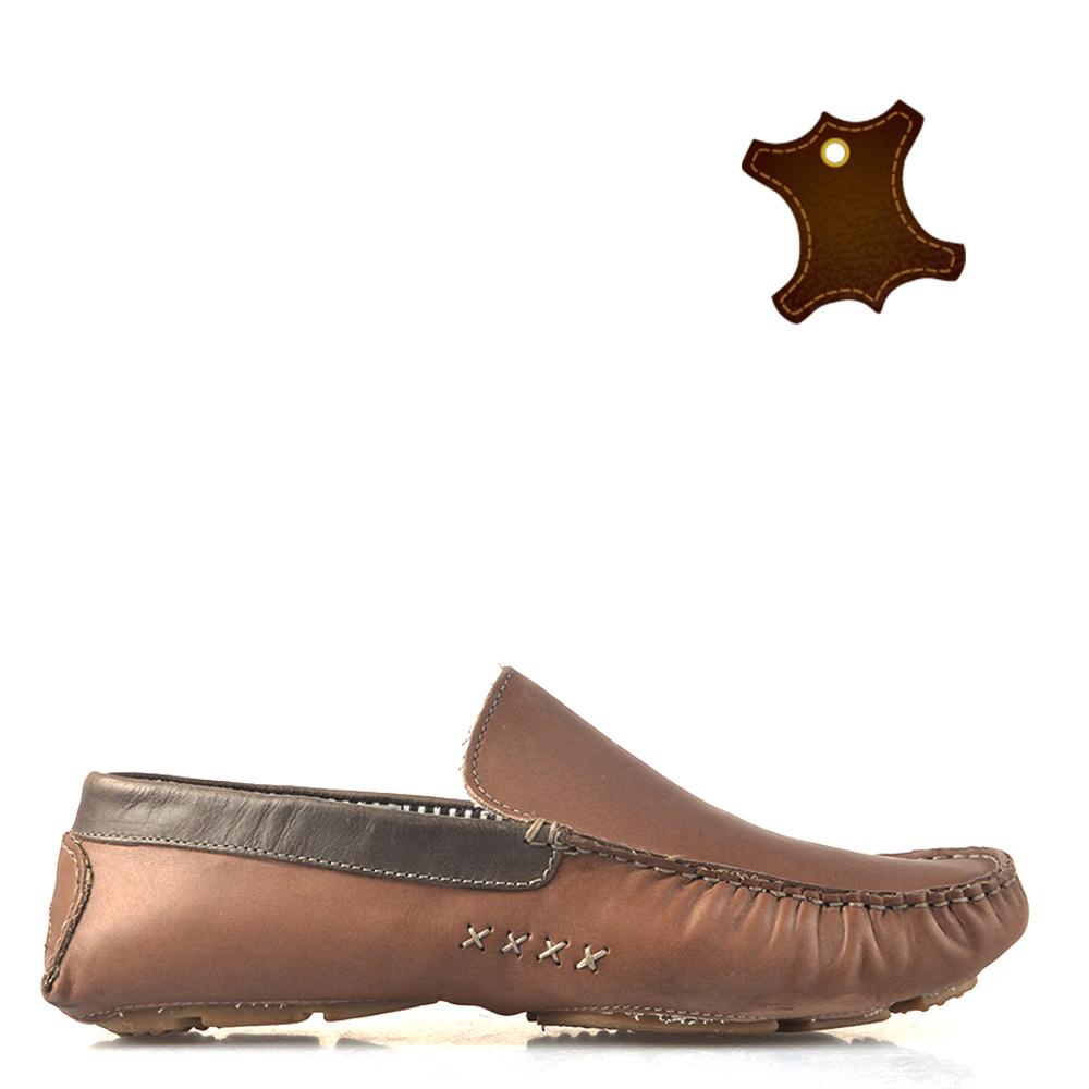 Pantofi barbati piele Alex gri