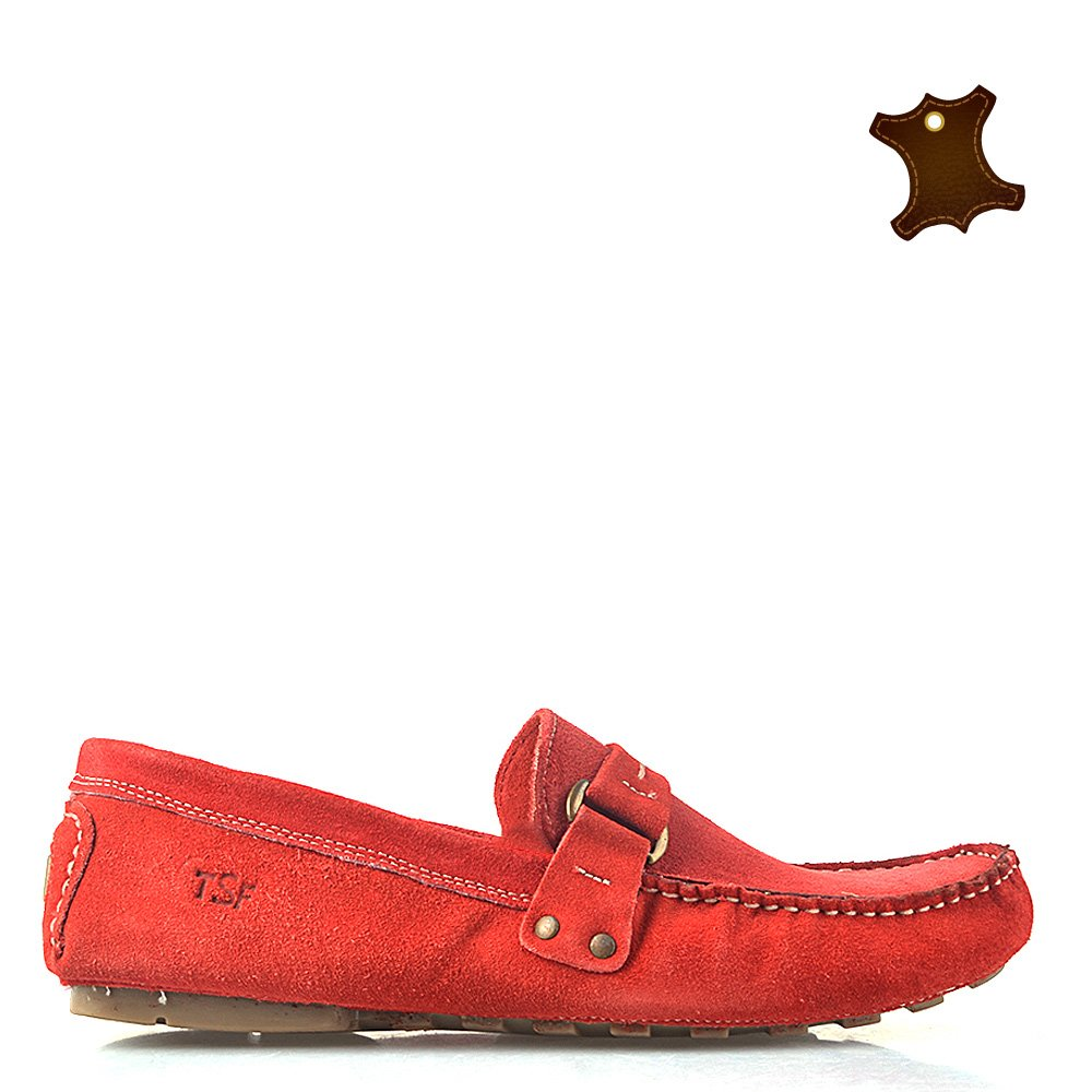 Pantofi Barbati Piele Ronnie Rosii