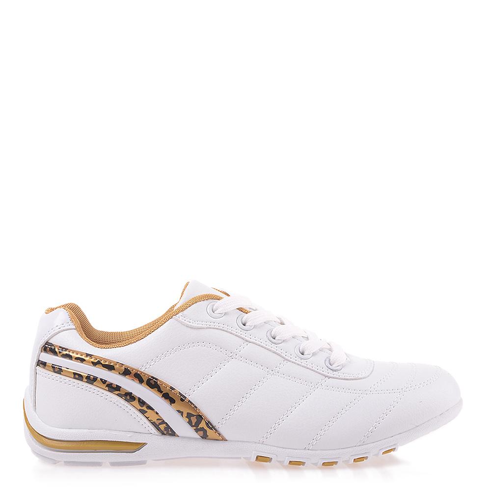 Pantofi Sport Dama Doriana Albi Cu Auriu