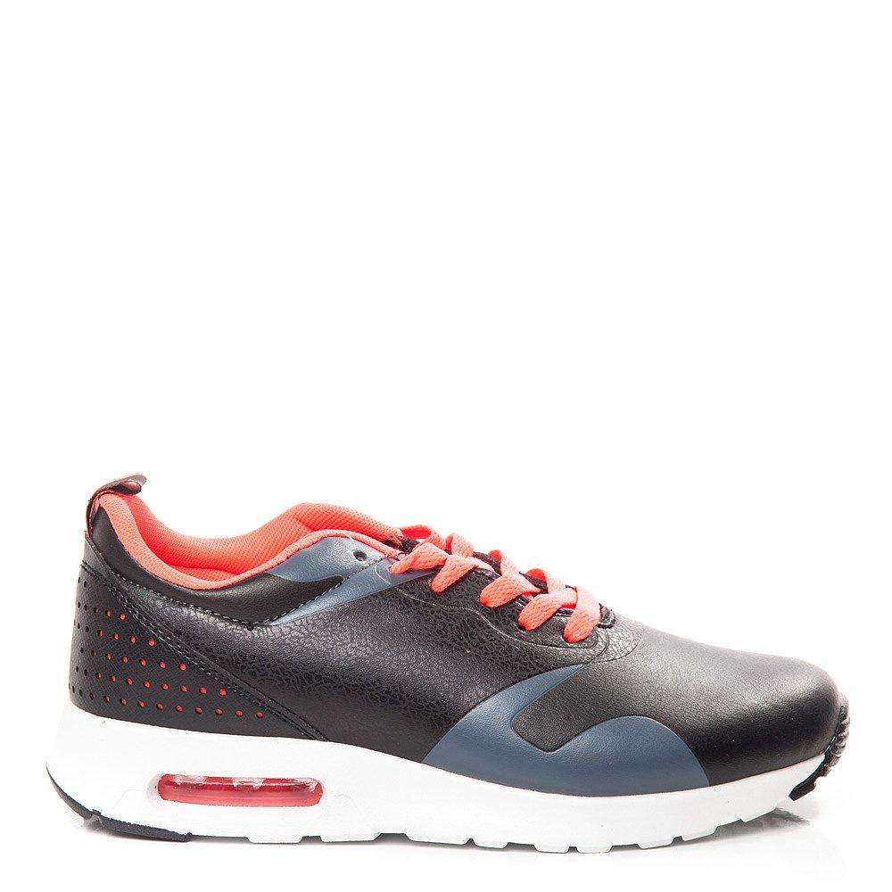 Pantofi sport dama Priscilla negri cu fuxia
