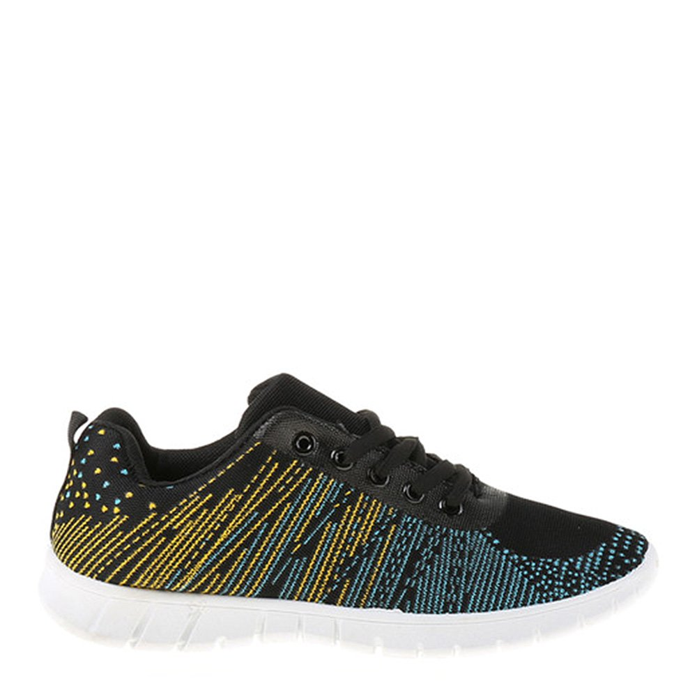 Pantofi Sport Dama Isadora Negri Cu Insertii Multicolore