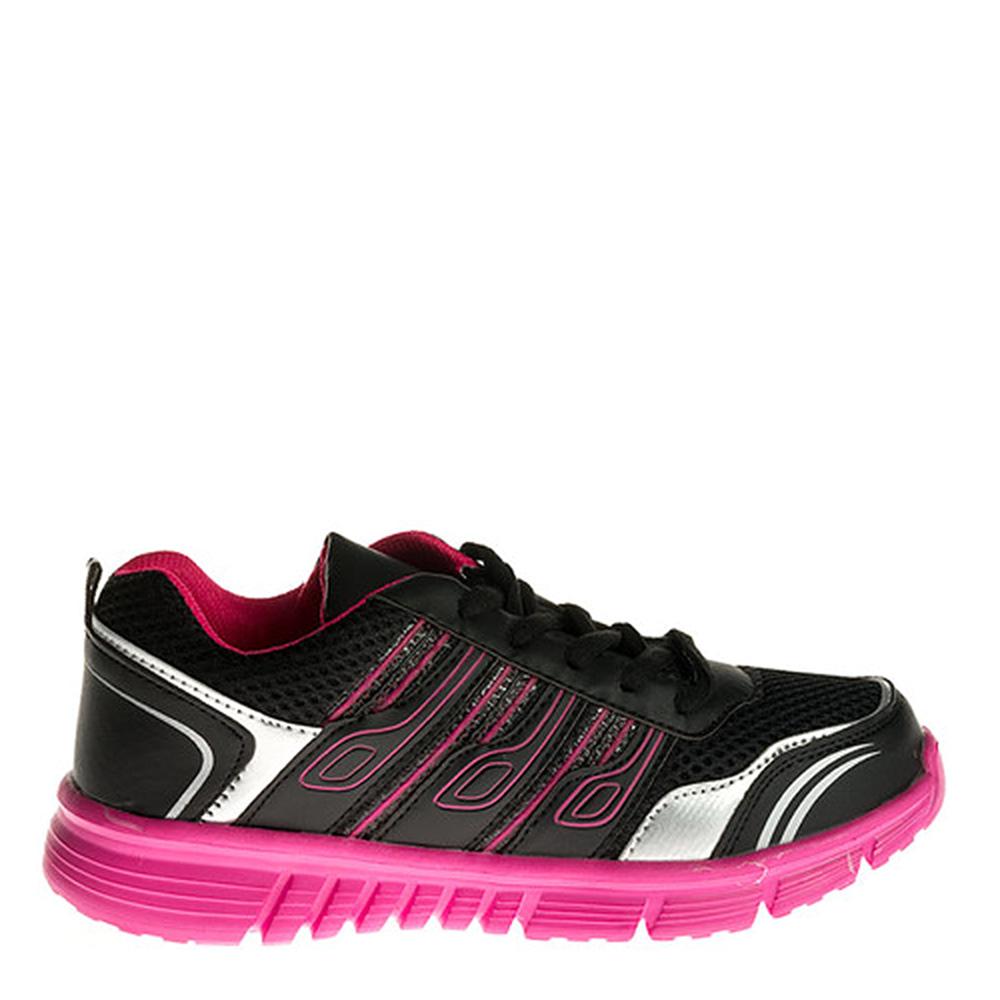 Pantofi sport dama Raquel negri cu roz