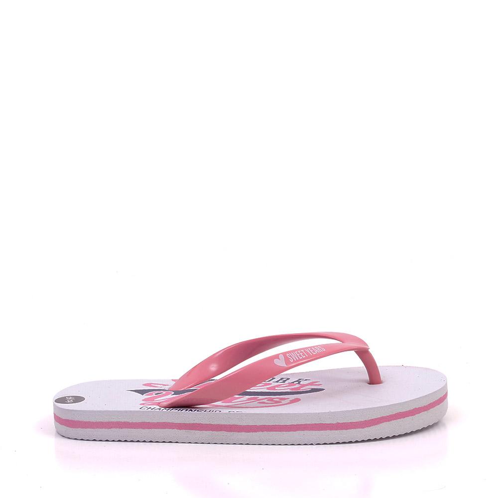 Papuci copii 5211 albi cu roz