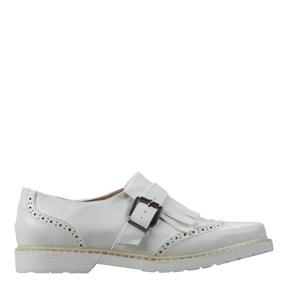 Pantofi dama Malinda albi