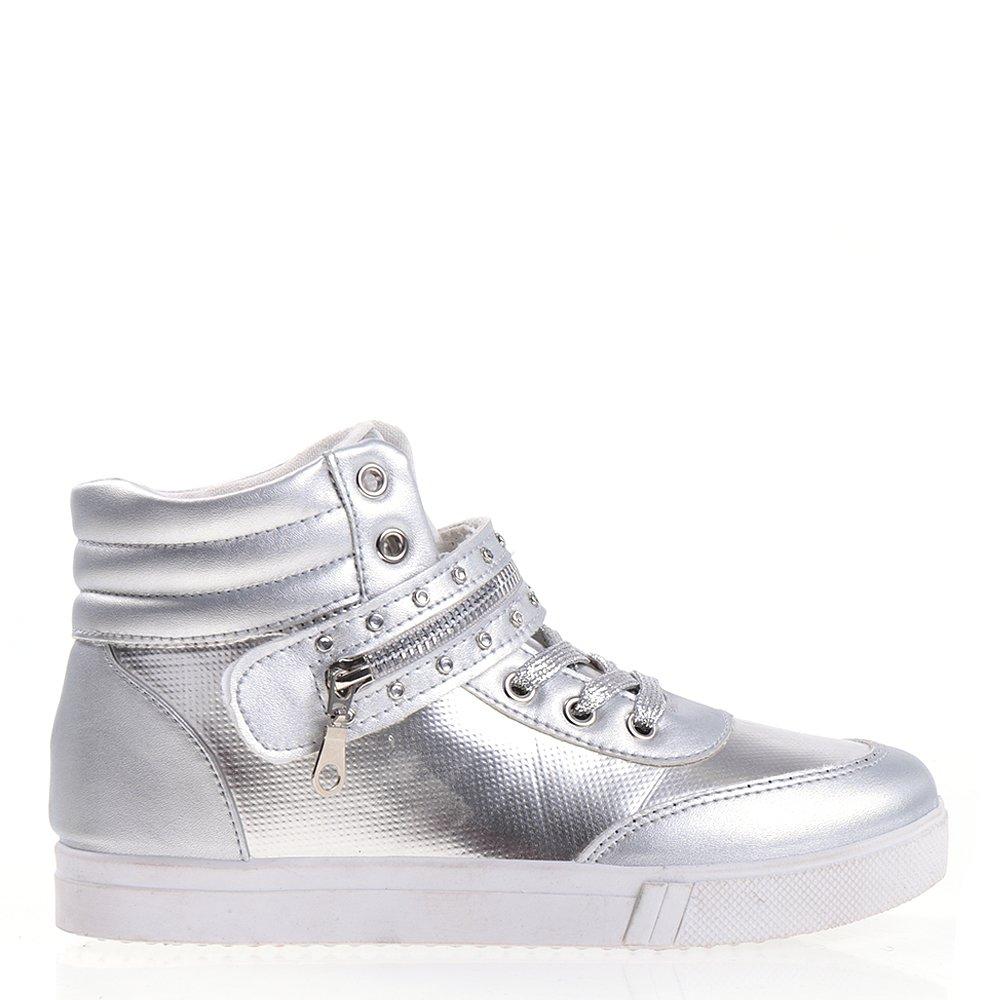 Pantofi sport dama Reyna argintii