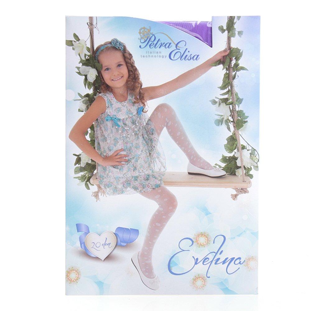 Ciorapi pantalon cu model pentru copiii Evelina 20DEN mov