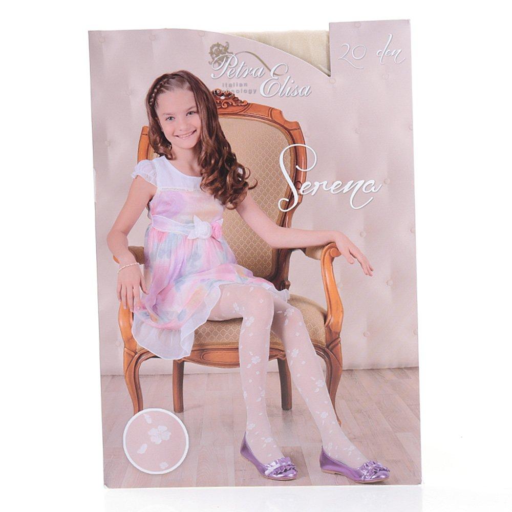 Ciorapi pantalon cu model pentru copiii Serena 20DEN crem