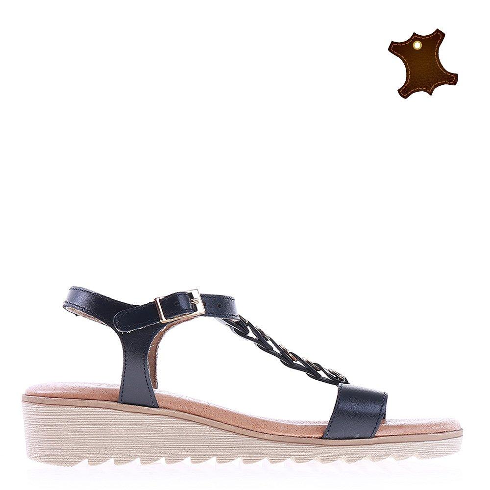 Sandale Dama Piele Corina Albastre