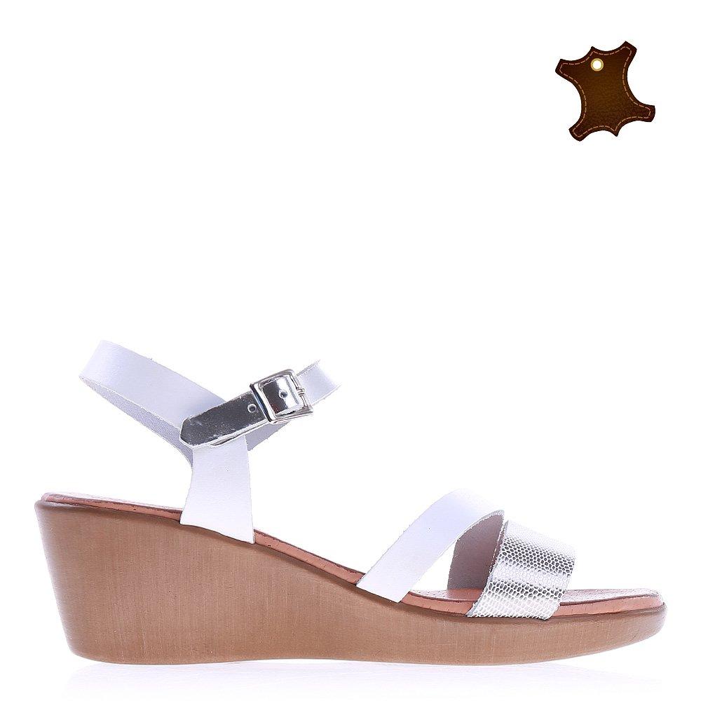 Sandale dama piele Saskia albe