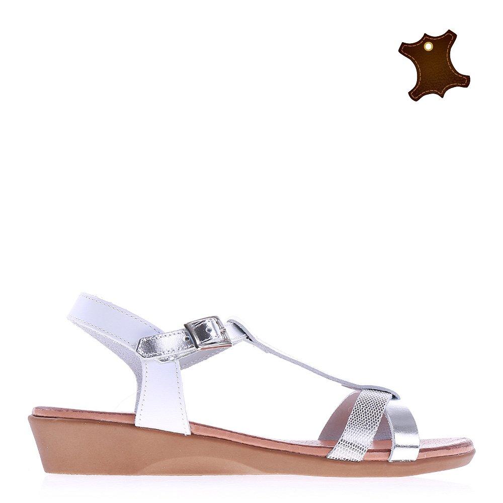 Sandale dama piele Rosita albe