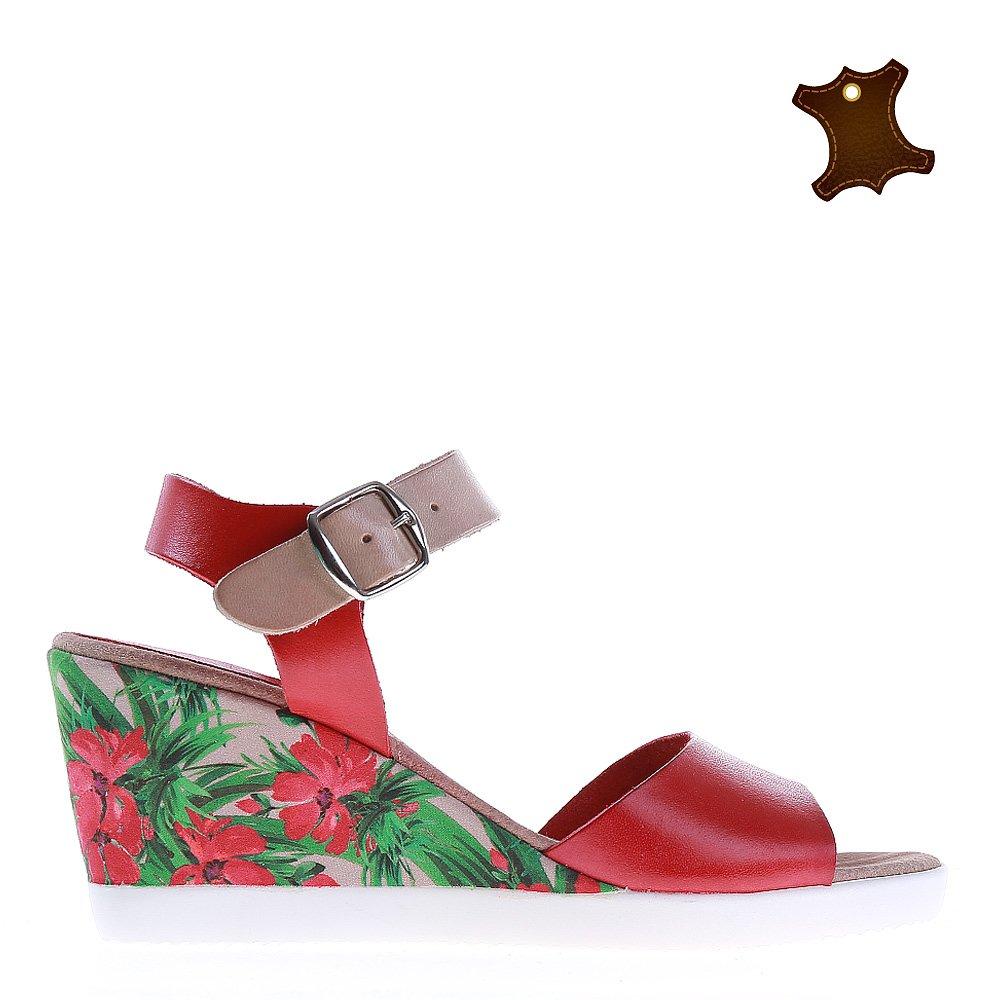Sandale dama piele Petunia rosii
